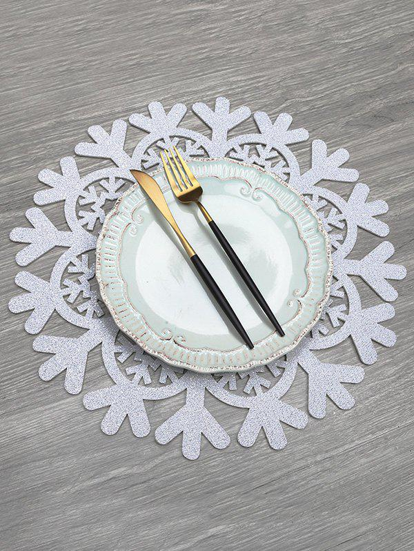 Buy Snowflake Pattern Hollow Out Placemat