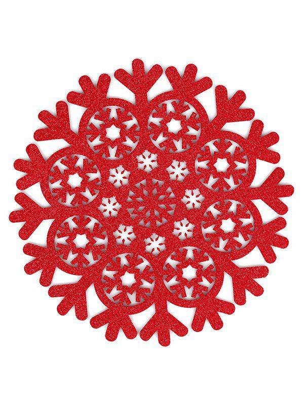 Fancy Snowflake Pattern Hollow Out Placemat