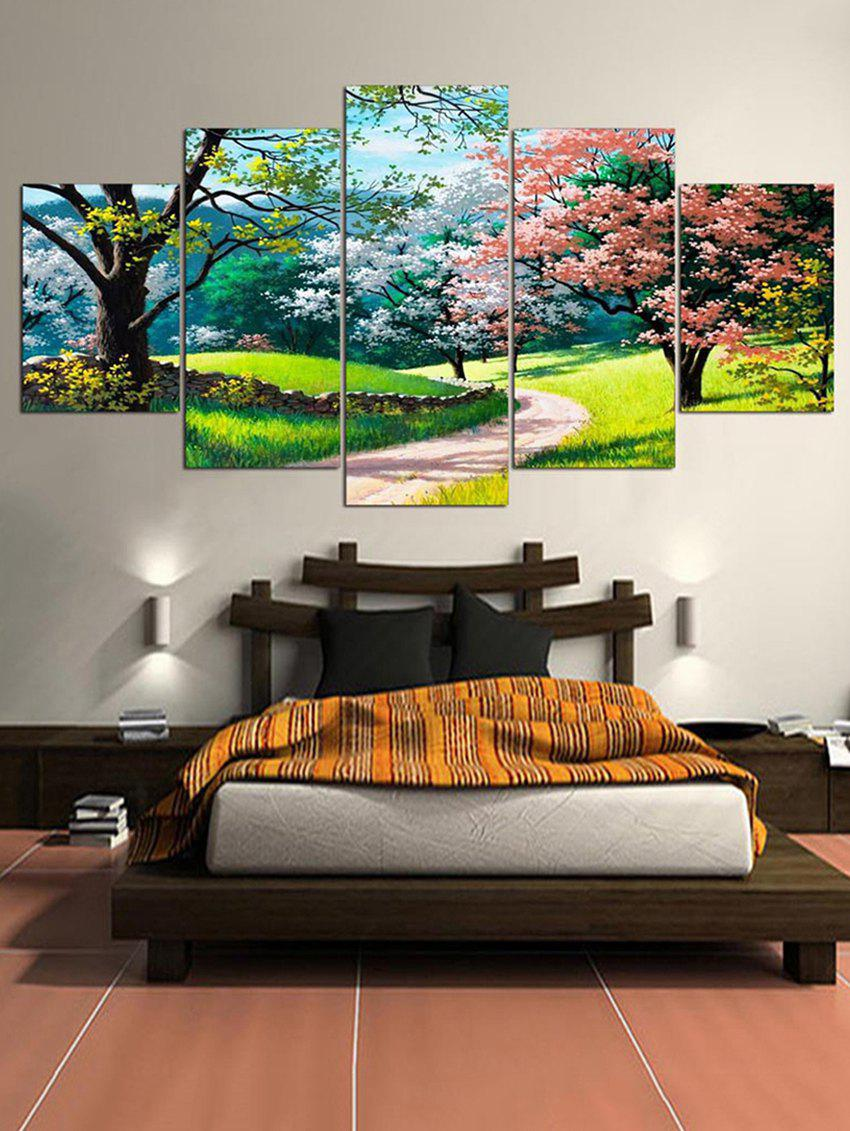 New Colorful Tree Pathway Scenery Print Canvas Paintings