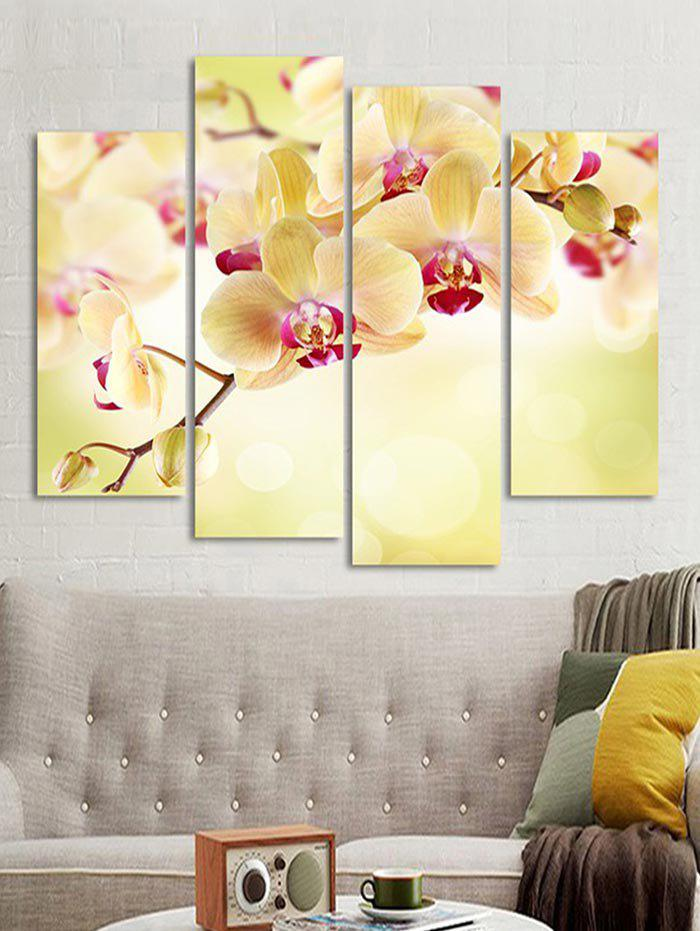 Buy Flower Printed Wall Art Canvas Painting