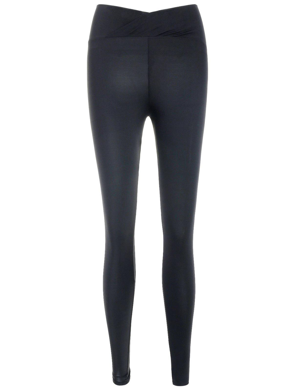 Chic High Waist Solid Leggings