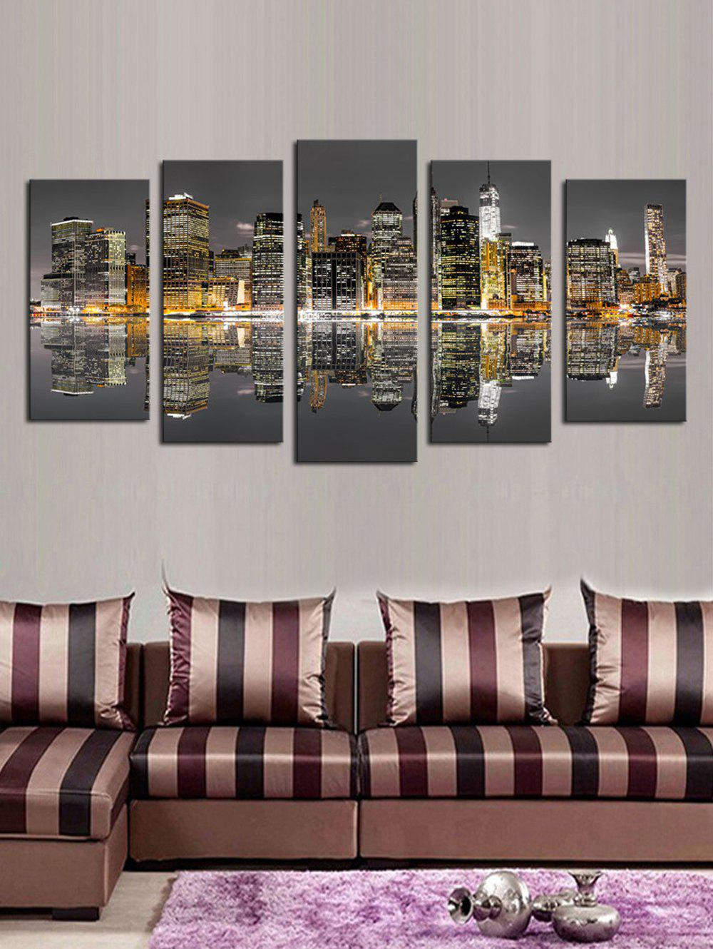 Store Reflection Builds Print Split Unframed Canvas Paintings