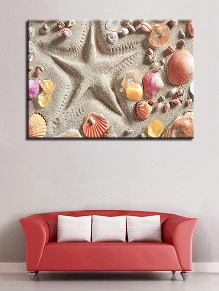 Discount Beach Shells Starfishes Print Canvas Painting