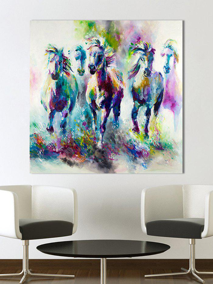 Hot Wall Art Canvas Rushing Horses Painting