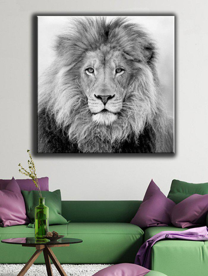 Chic Lion Pattern Canvas Painting Wall Art