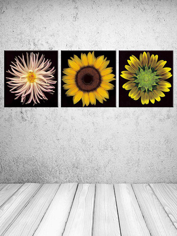 Outfit Wall Art Flowers Print Split Canvas Paintings