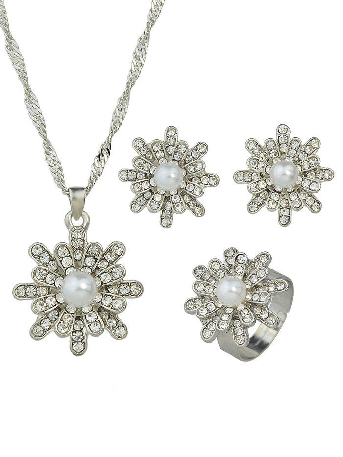 Hot Rhinestone Decoration Alloy Jewelry Sets
