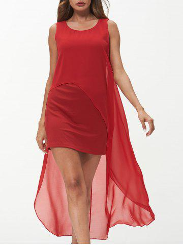 Sleeveless Round Neck Chiffon Dress