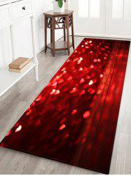 Love Heart Valentine Printed Floor Mat -