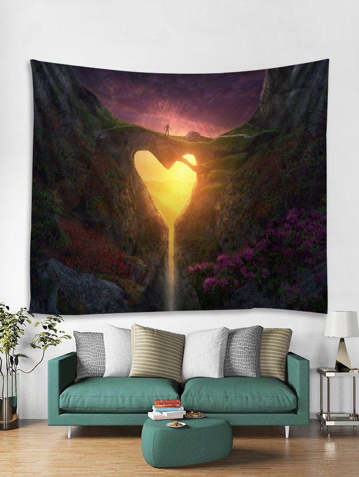 Heart Hole Mountain Print Wall Tapestry