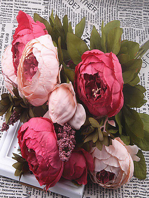 Outfit Artificial Flowers Peony Home Decoration