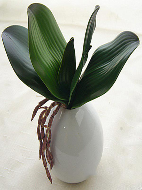 New Home Decoration Artificial Orchid Leaves Plant