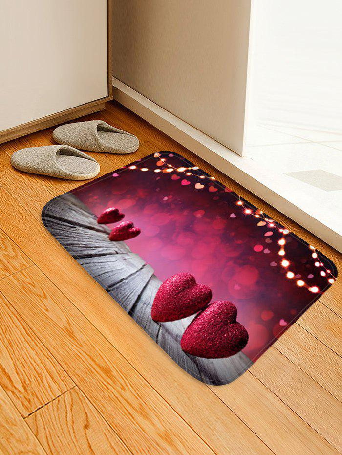Outfit Valentine Heart Wooden Printed Floor Mat