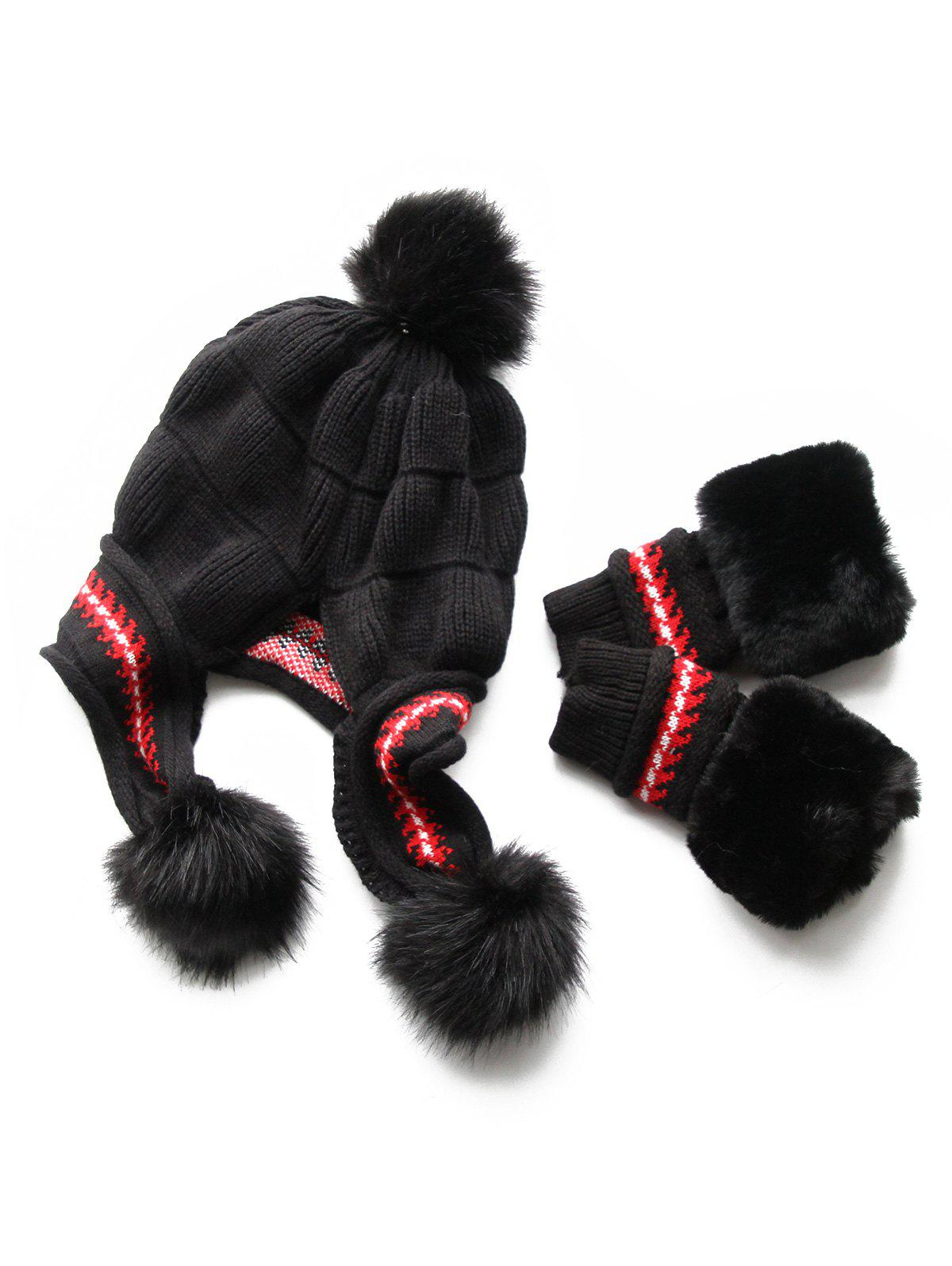 Buy Stylish Winter Knitted Hat Gloves Set