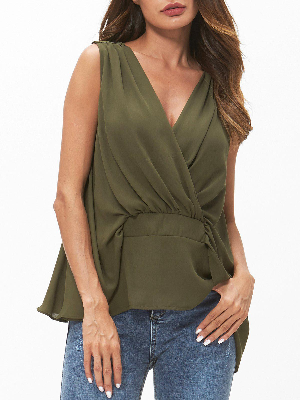 Discount V Neck Chiffon Tank Top