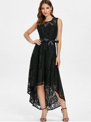 High Low Lace Maxi Party Dress