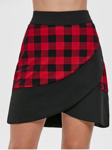 High Rise Plaid Mini Skirt