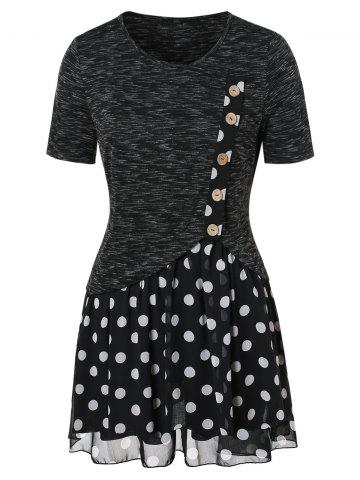 Dotted Space Dyed Plus Size T-shirt