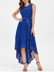 High Low Lace Maxi Party Dress -
