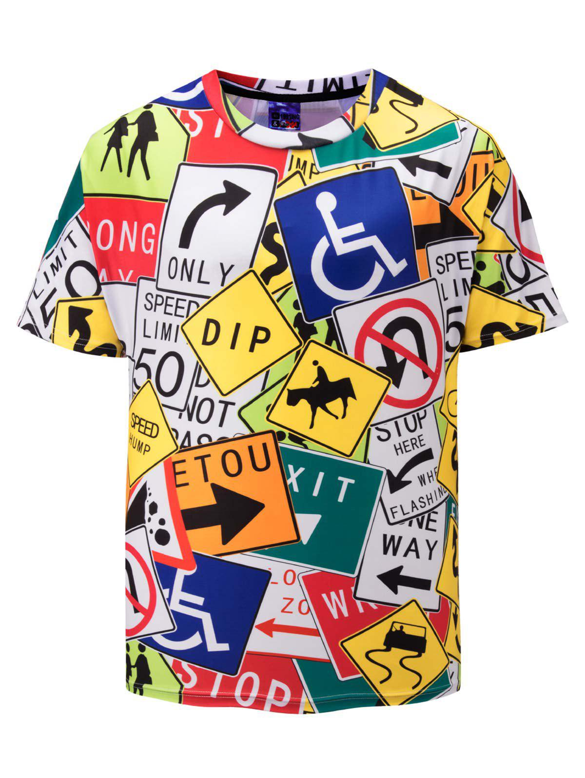 Sale Signs Print Short Sleeve T-shirt
