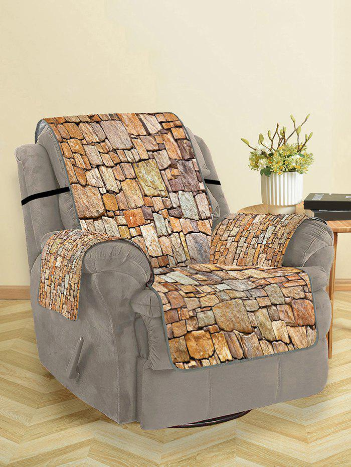 Fashion Stone Wall Pattern Couch Cover
