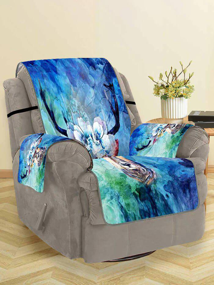 New Deer Floral Pattern Couch Cover
