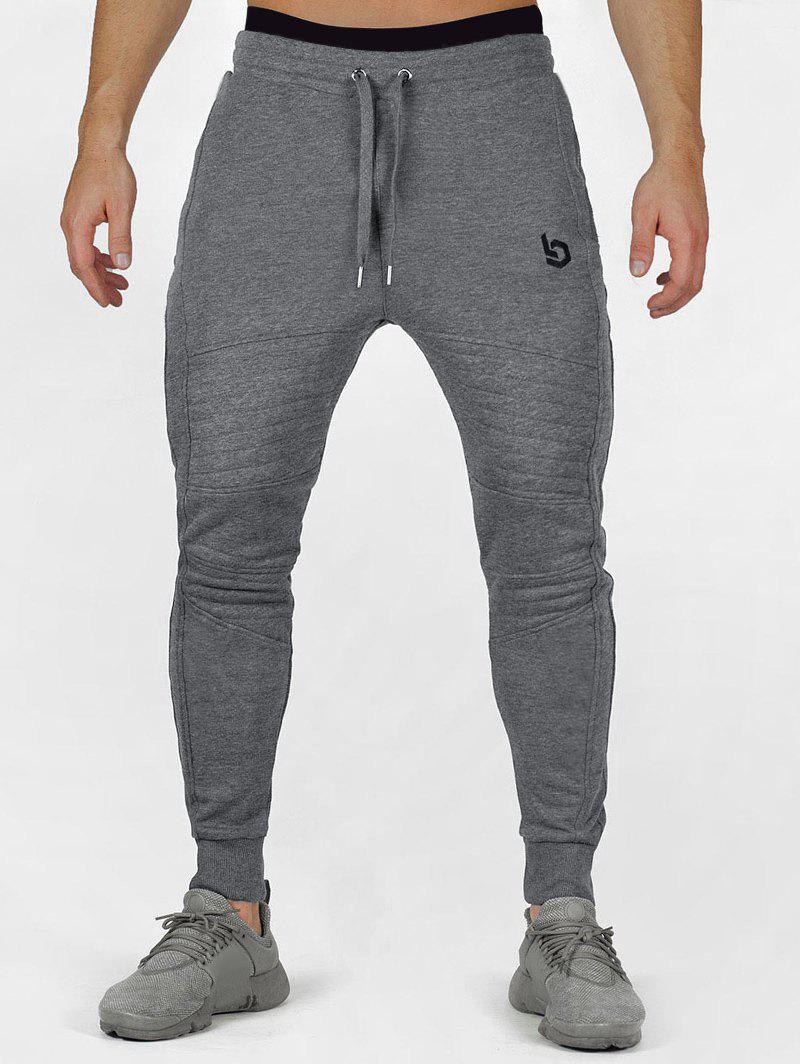Store Embroidery Long Casual Jogger Pants