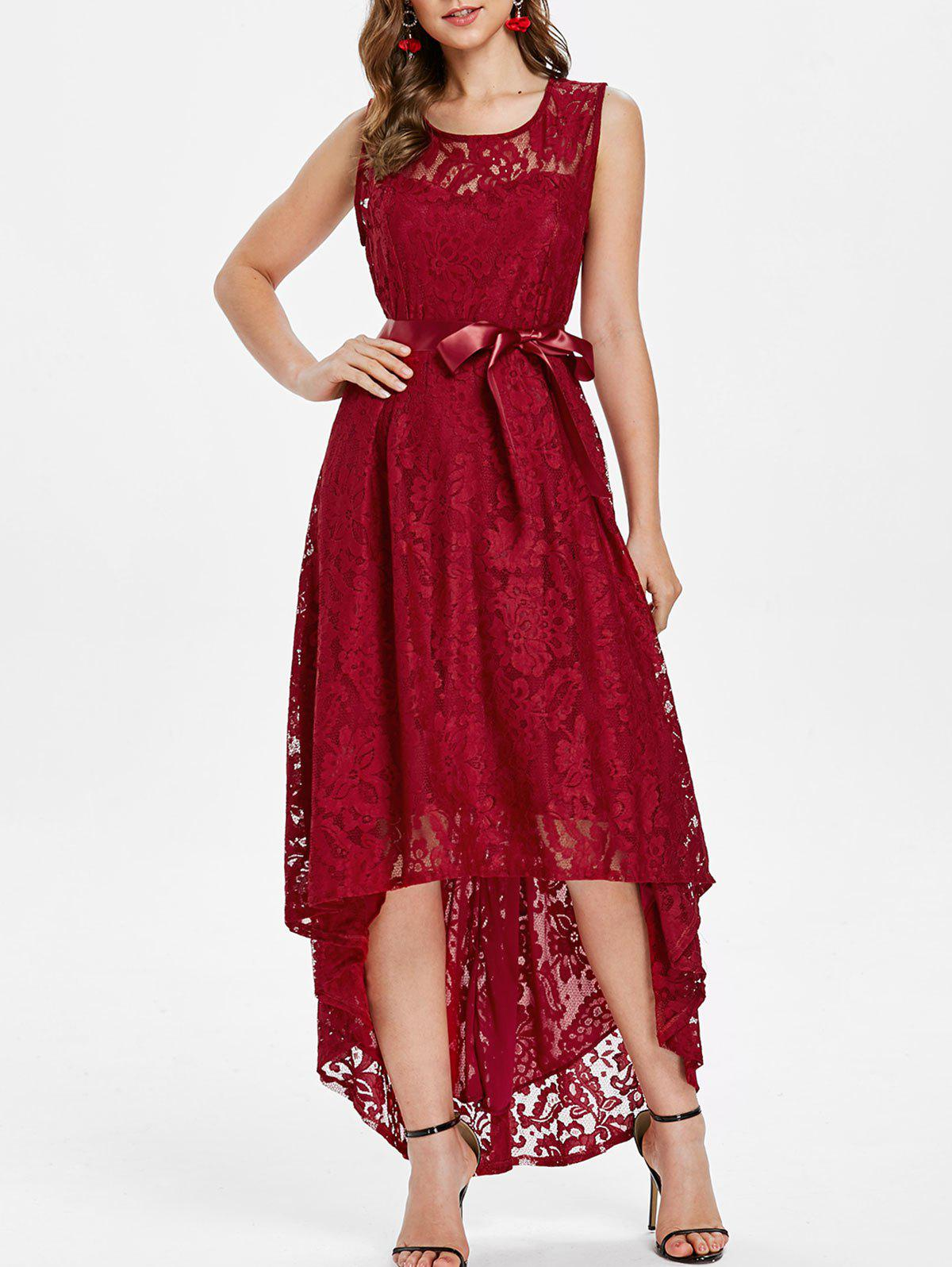 Outfits High Low Lace Maxi Party Dress