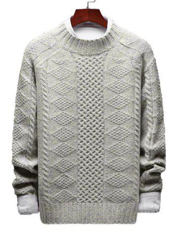 Casual Geometric Cable Knit Sweater