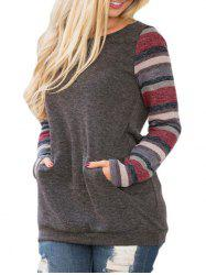 Striped Long Sleeve Casual Top -