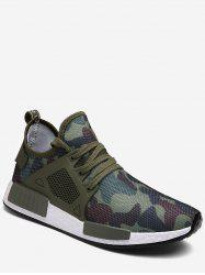 Camouflage Lace Up Running Sneakers -