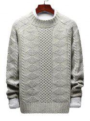 Casual Geometric Cable Knit Sweater -