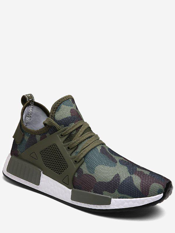 Affordable Camouflage Lace Up Running Sneakers