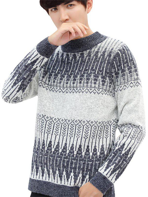 Outfits Geometric Pattern Soft Pullover Knit Sweater