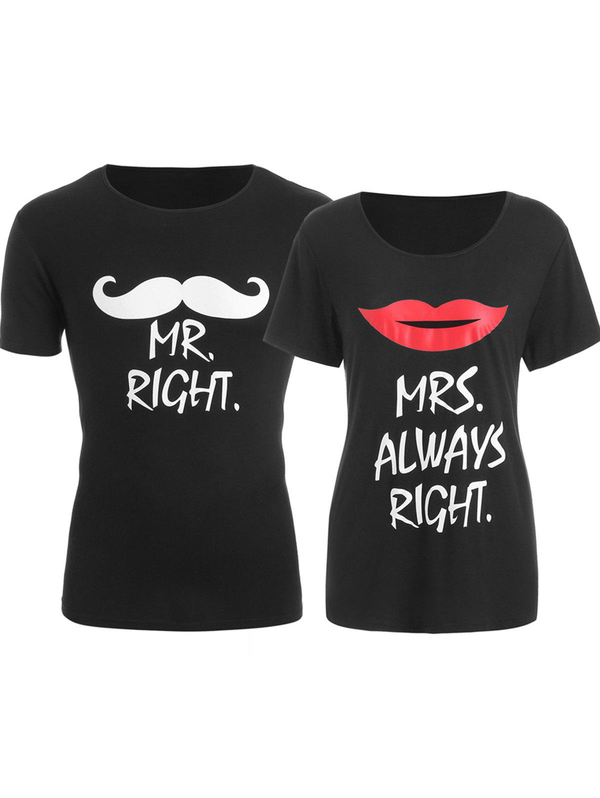 Outfits Printed Matching Couple Valentine's Day T Shirt