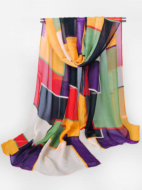 42 OFF 2019 Casual Style Color Block Design Scarf