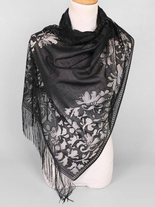 New Lace Hollow Out Tassel Design Scarf