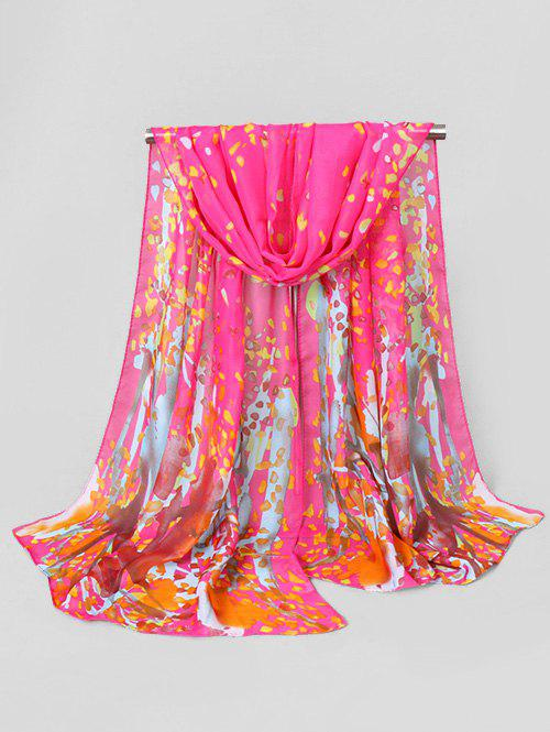 Affordable Chiffon Painting Pattern Printed Beach Scarf