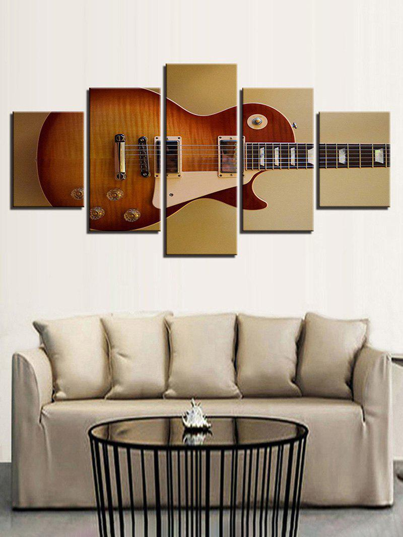 Fancy Music Guitar Print Split Unframed Canvas Paintings