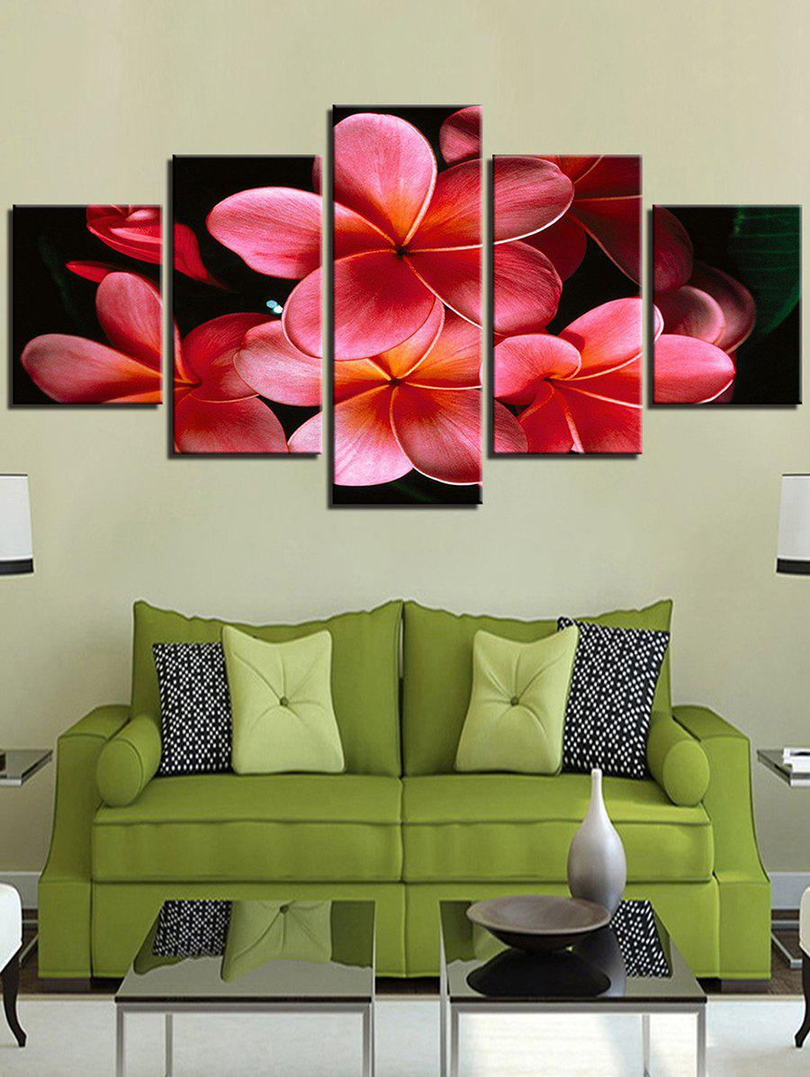 Outfit Flower Split Unframed Canvas Paintings