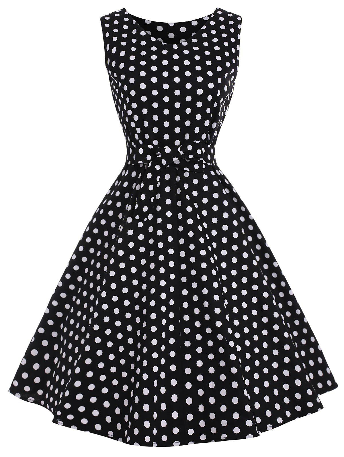 Chic Vintage Dotted Pin Up Dress