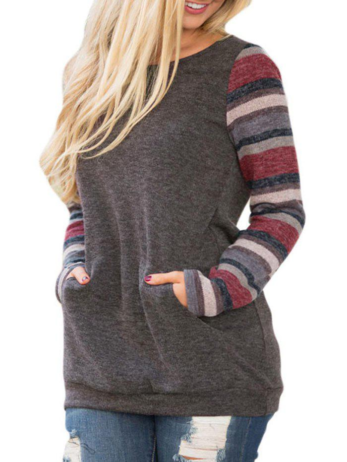 Hot Striped Long Sleeve Casual Top
