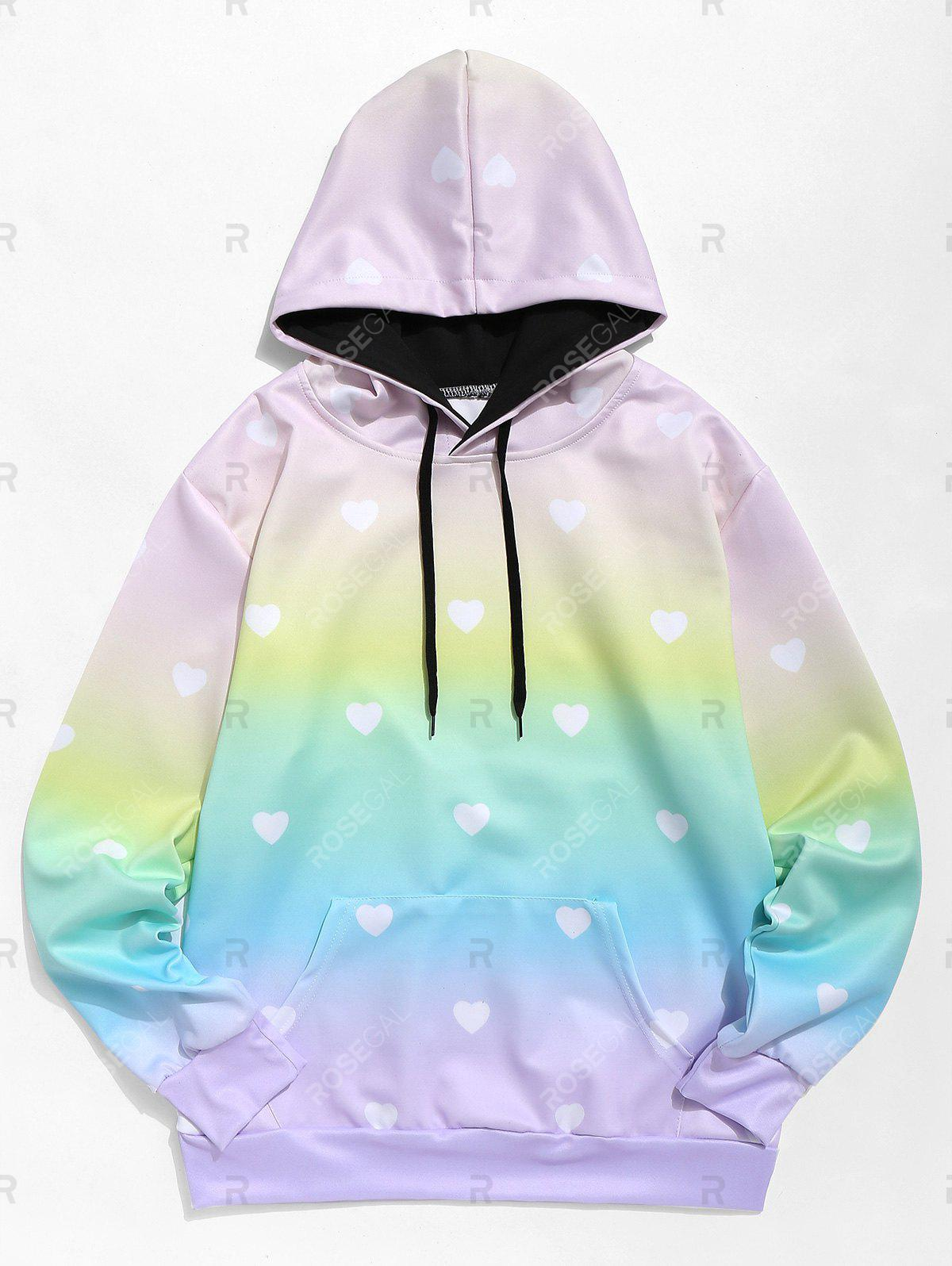 New Ombre Heart Hoodie