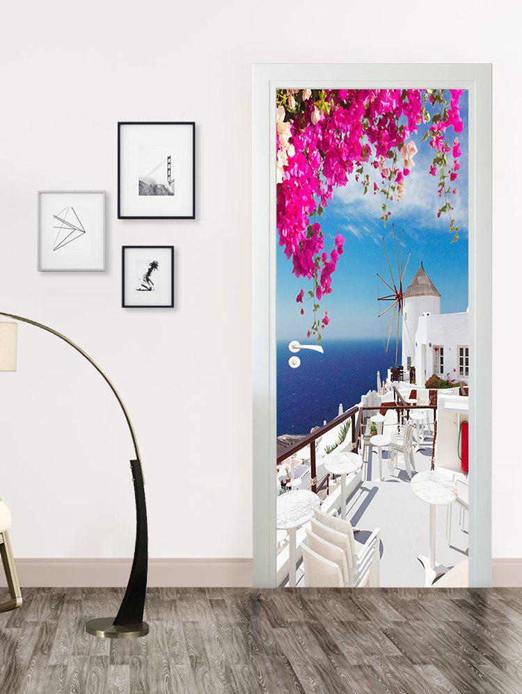 Sale Seaside Palace Print Door Art Stickers