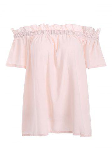 Ruffle Off The Shoulder Solid Top