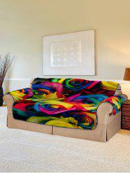 Rose Flower Pattern Couch Cover -