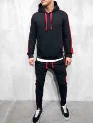 Color Spliced Hoodie and Pants -