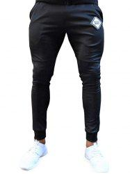 Long Letters Print Drawstring Jogger Pants -