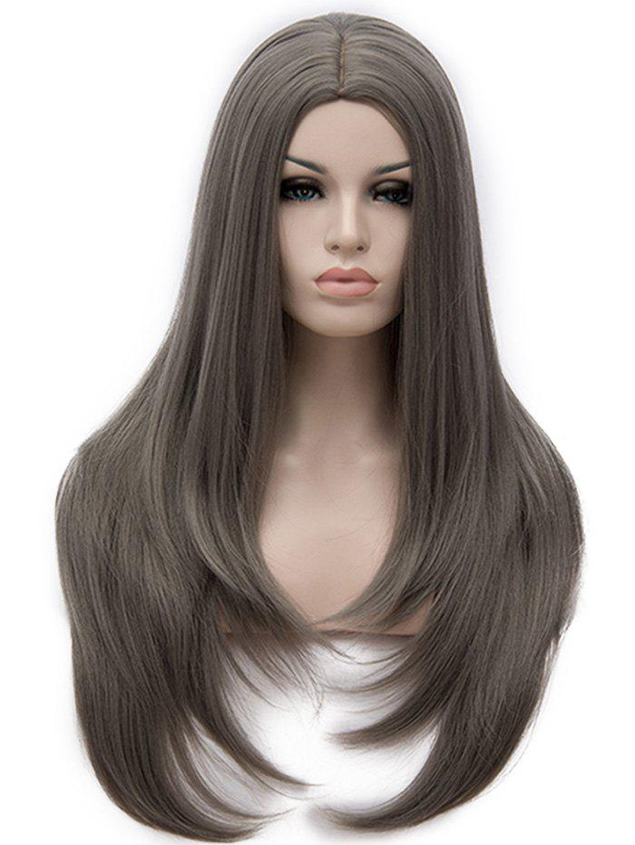 Center Parting Long Tail Adduction Straight Capless Synthetic Wig