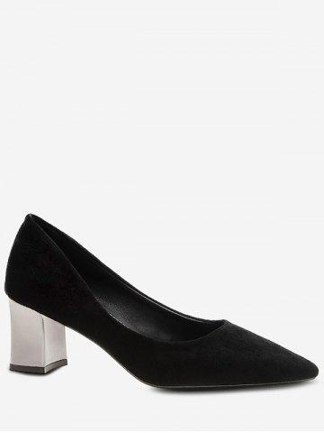 Plated Heel Pointed Toe Pumps